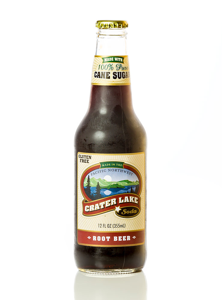 Crater Lake Root Beer bottle