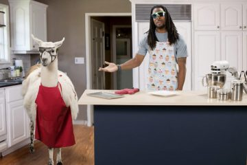 Richard Sherman with llama