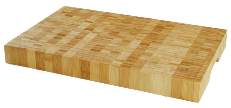 "An end-grain bamboo cutting board is less likely to get ""hairy"", and quality boards cost only about $50. This one ships from WA!"