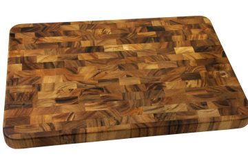 This acacia cutting board features end-grain construction and can costs only $66.