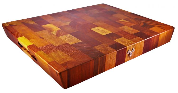 This Tree & Co End Grain Butcher Block is a little more expensive than some, but is made of reclaimed hardwoods so it is forest-friendly. About $125 at Amazon.com.